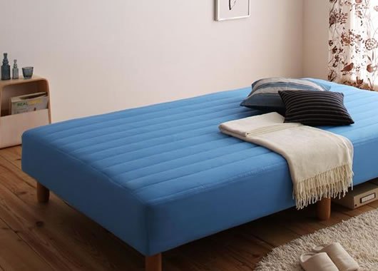 ... ベッド 脚22cm セミダブルサイズ
